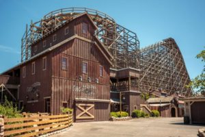GhostRider, renovated and ready to roll, June 2016 (COURTESY KNOTT'S BERRY FARM)